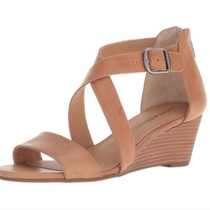 Lucky Brand Caisby toffee colored wedge sandal